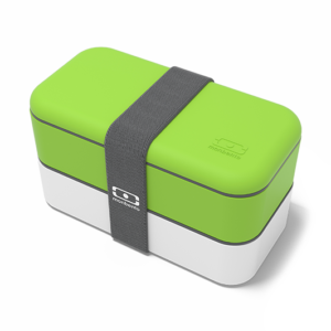 lunch box vert et blanc