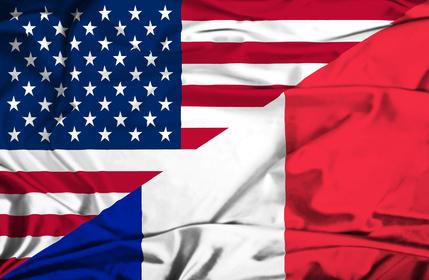 drapeaux france et états-unis