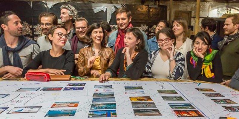 photo de participants à la fresque